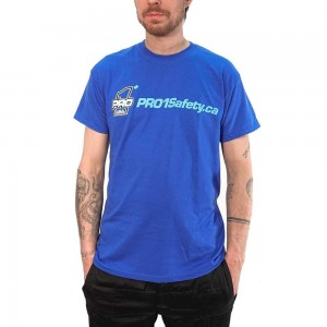 Get that nice PRO 1 swag! Royal Blue Tee available on our website! Link in the bio. #Pro1SafetyCanada #Pro1Safety @pro1safety